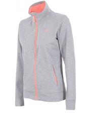 Sweter [T4Z16-BLD001] Bluza dresowa damska BLD001 - jasnoszary melanż - - 4f.com.pl 4F